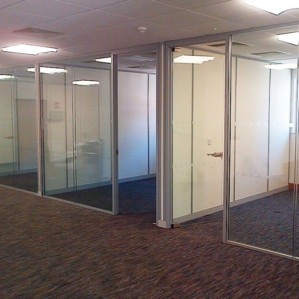 double glazed office partition