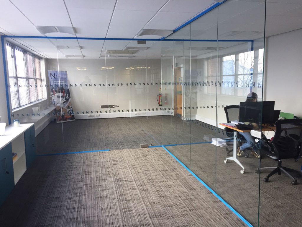 glass partition in norwich