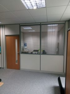 half height glass partition