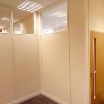 partially glazed partition in Essex